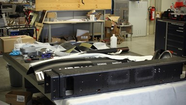 composite parts for Hyperloop pod