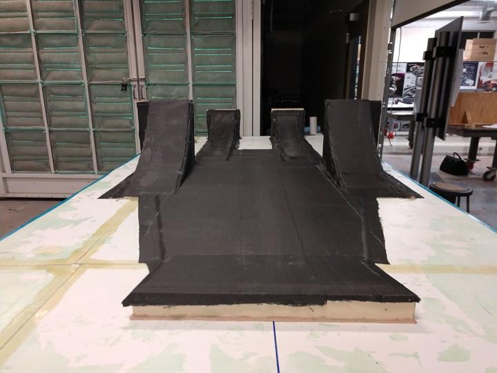 carbon fiber composite undertray for formula sae automotive vehicle