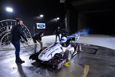 wind tunnel testing of a composite vehicle for Formula SAE