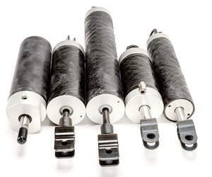 Polygon PolySlide composite tubing replaces metal for pneumatic and hydraulic cylinders