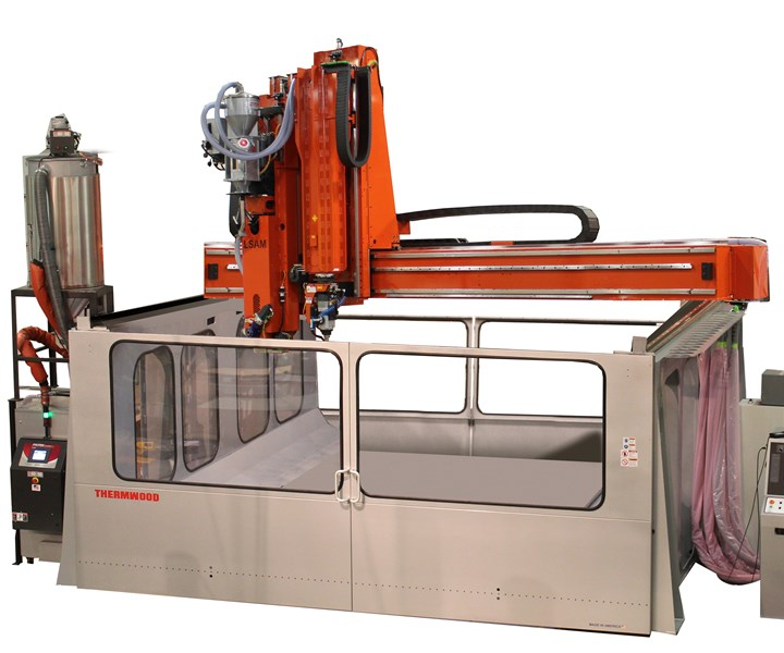 Thermwood large scale additive manufacturing with thermoplastic composites