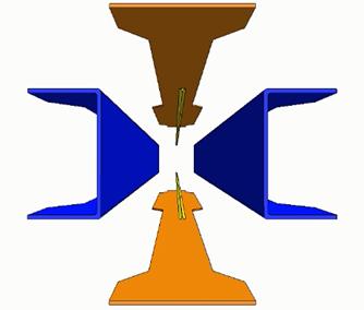 I-beam stringer preforms for compression resin transfer molding (RTM)