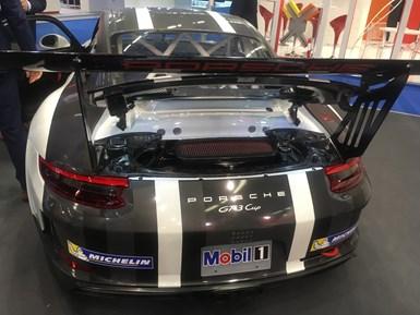 Porsche carbon fiber reinforced mounting bracket