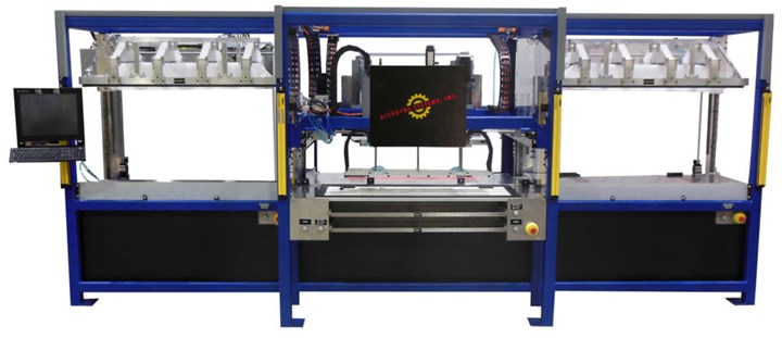 pick/place/form/compact work cell for composites manufacturing