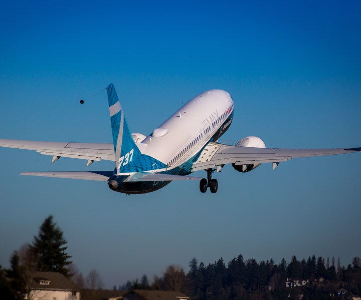 Boeing 737 MAX on take-off