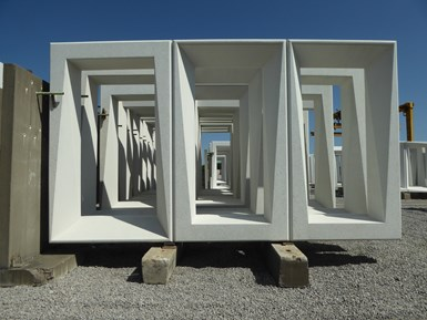 concrete frames fabricated using composite molds