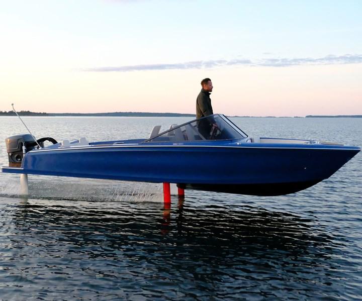 carbon fiber composite electric foiling boat