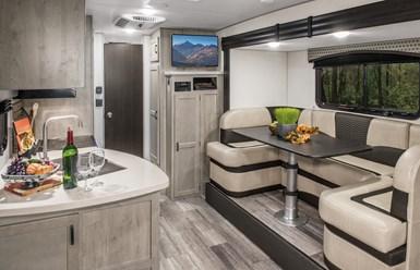 interior of Sonic X carbon fiber composite camping trailer