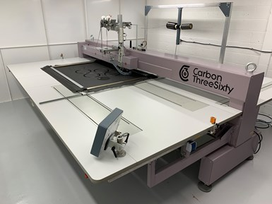 Carbon ThreeSixty tailored fiber placement machine for composites fabrication