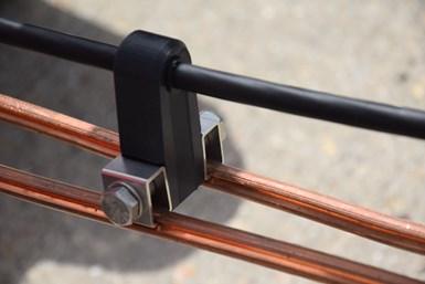 COHLE carbon catenary composite light rail system