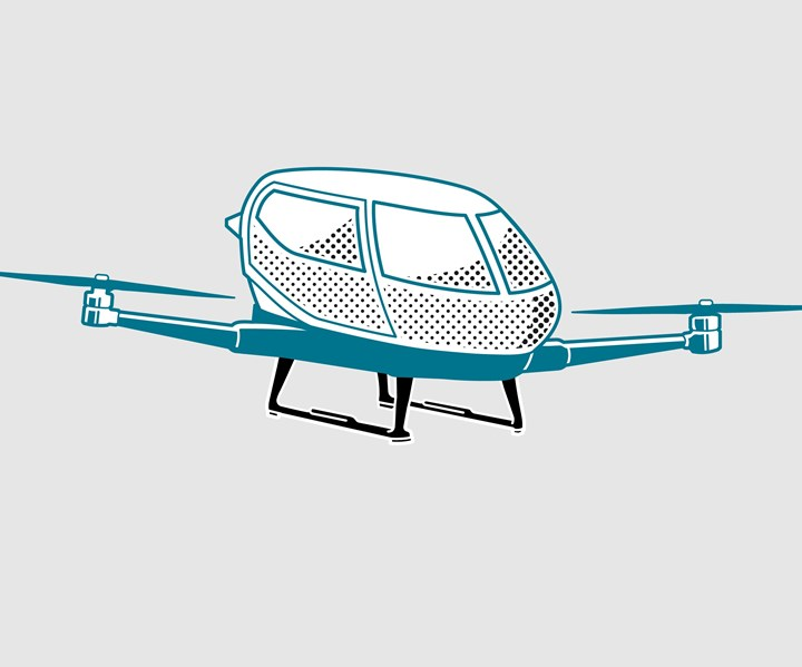 design for SGL Carbon carbon fiber composite air taxi landing skids