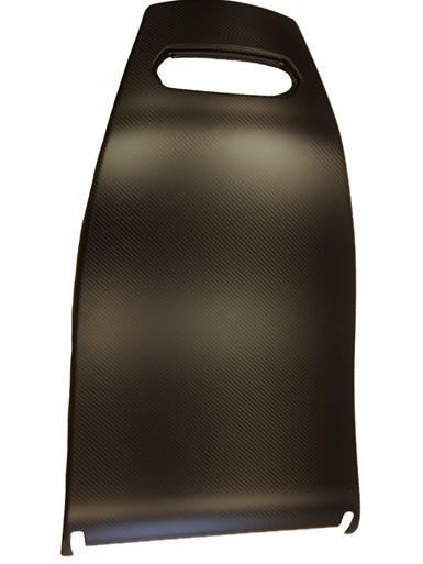 carbon fiber wood fiber composite car seat back