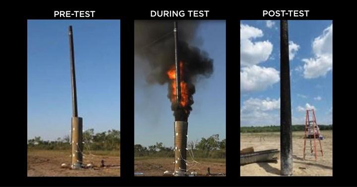 fire resistant composite utility poles