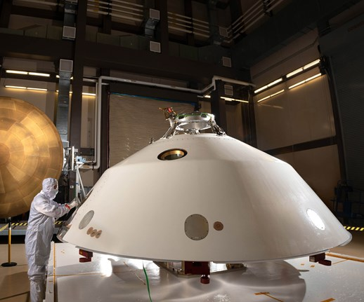 Lockheed Martin delivers Mars 2020 rover aeroshell to launch site