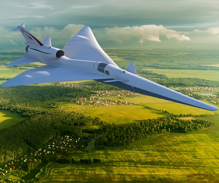 concept of the NASA X-59 supersonic aircraft