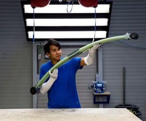 SGL Carbon produces composite leaf springs for Ford Transit