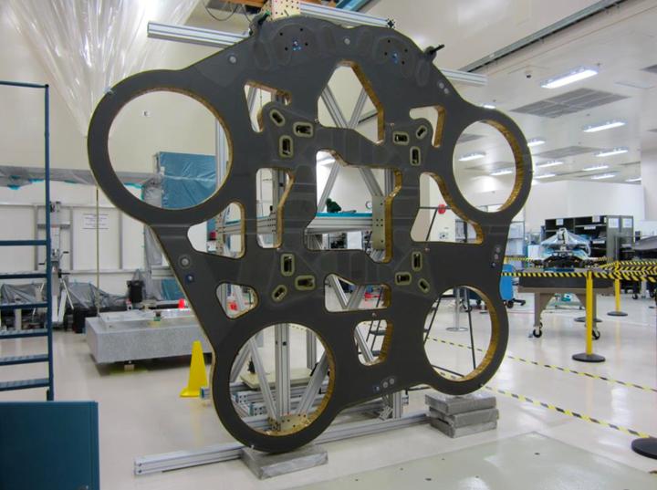 aerospace composites, carbon fiber, composite satellite