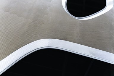 fire retardant composite panel for Museum of the Future from Notus Composties