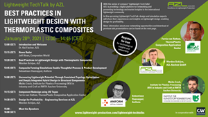 AZL Aachen webinar: Designing with thermoplastic composites