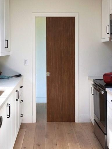 Ekoa Surface Peel N'Stick composite veneer on door
