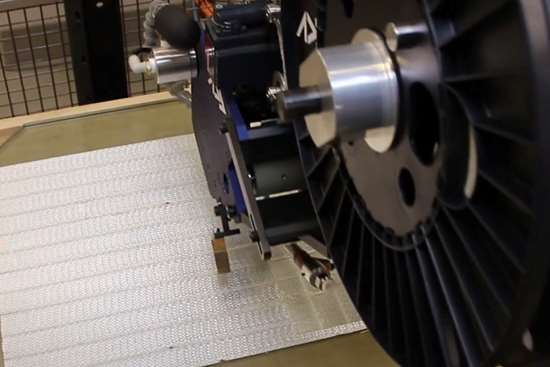 using AFP-XS to make preform using novel glass fiber tape