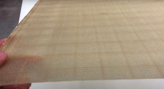 resin infused AFP glass fiber tape preform at Effman