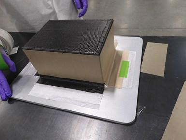 carbon fiber prepreg layup for lunar rover chassis