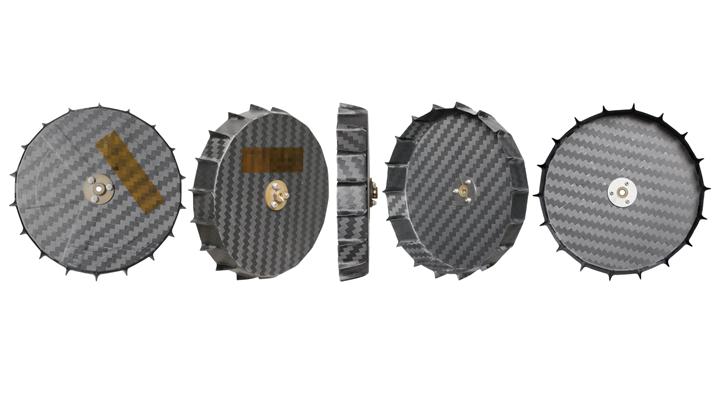 carbon fiber composite wheels for Iris lunar rover
