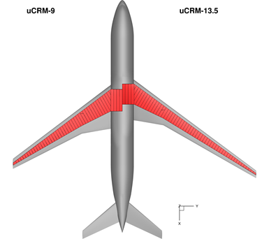 NASA PAT project uCRM-9 and uCRM-13.5 wing models