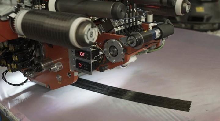 MTorres novel dry fiber tape being trialed in MTorres AFP machine