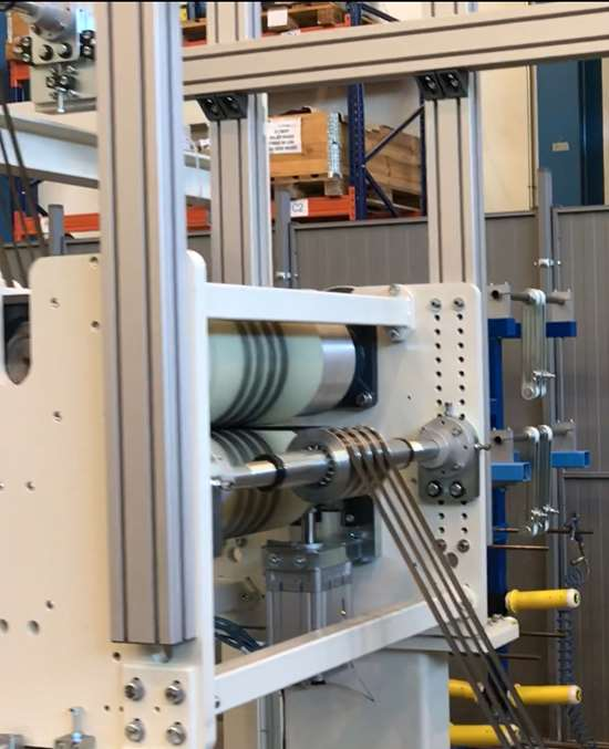 spread tows are conditioned to width of 0.5 to 2.0 inches in MTorres tape line