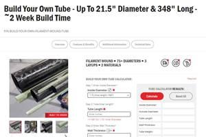 Rock West Composites offerscustom filament-wound tube website feature