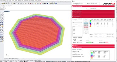 Carbon Axis XCell AFP software XLay integrated into Rhino 7.0