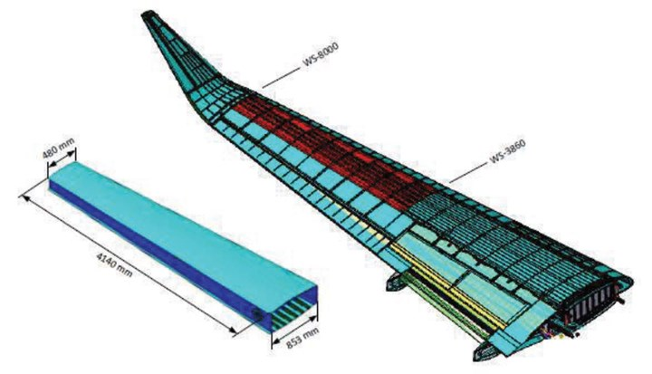 Airbus C295 outer wing for IIAMS project wing box demonstrator