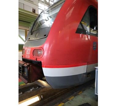 Deutsche Bahn regional train driver cab