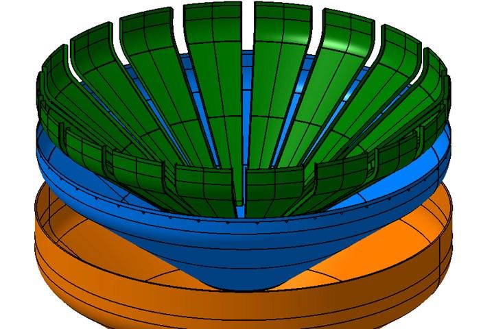 vinci推力框架,用霉菌预制