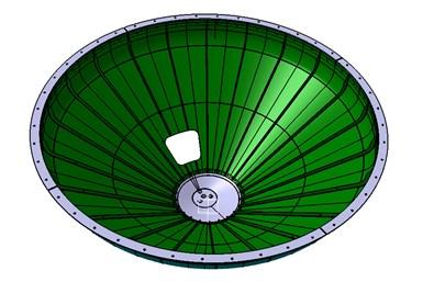 发动机推力框架(ETF)设计概念,内表面