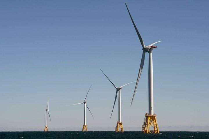 Block Island wind farm in Rhode Island.