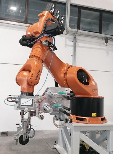 robotic towpreg deposition system developed by COMEC