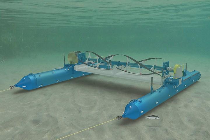 RivGen marine current generator device deployed in river