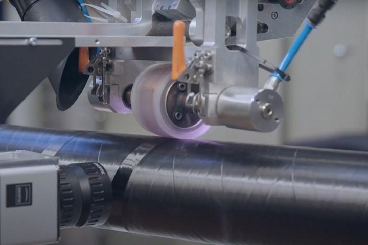 ambliFibre: Laser-Assisted Fibre-Reinforced Tape Winding at Fraunhofer IPT