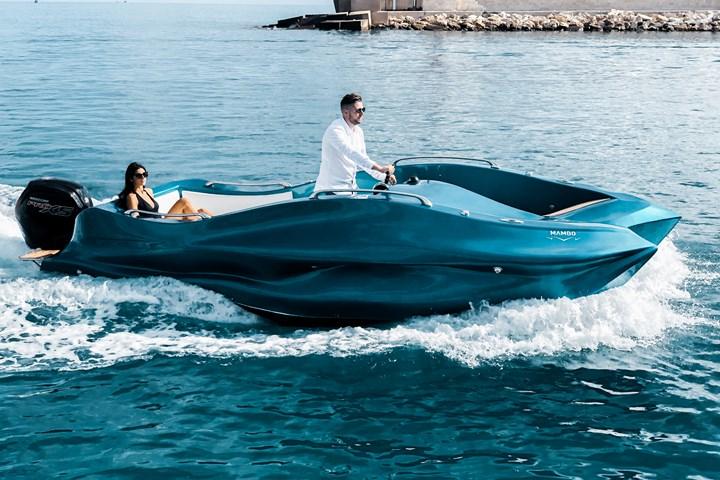 MAMBO 3D printed fiberglass motorboat