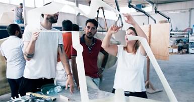 designing MAMBO 3D-printed fiberglass composite boat