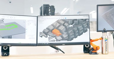 Autodesk software for designing MAMBO 3D-printed fiberglass composite boat