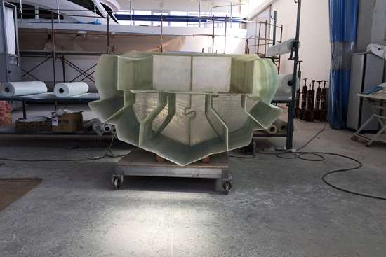 assembly of continuous fiberglass 3D printed MAMBO boat panels