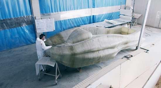 assembly of fiberglass 3D printed MAMBO boat