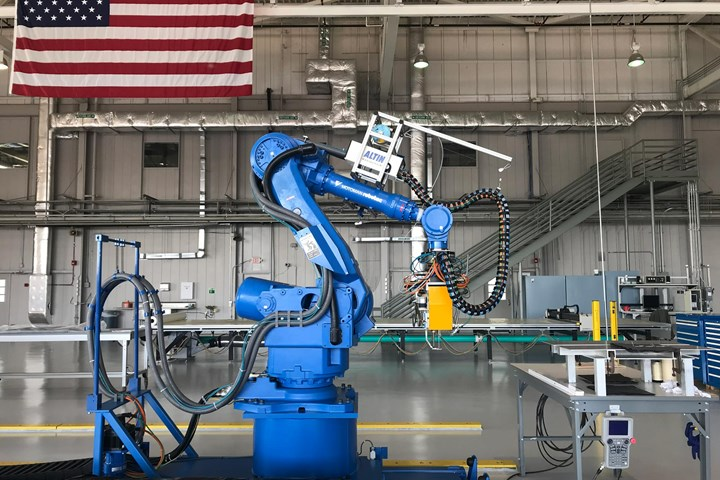 University of Mississippi Advanced Composites Institute robotic stitching