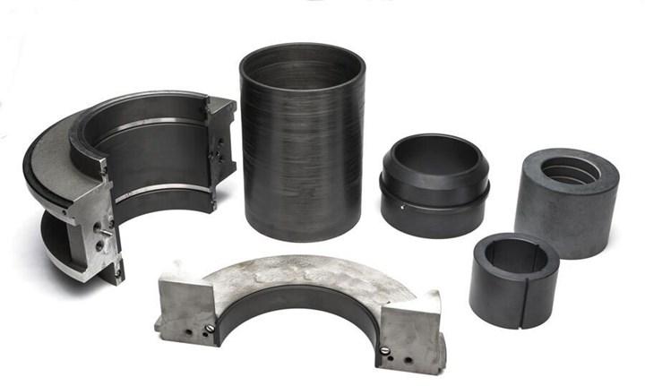 Custom-designed thermoplastic suction bell eye case rings, bowl eye case ringsand bowl bushings.