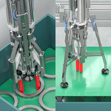 Multifunctional gripper is available with two different gripper types.