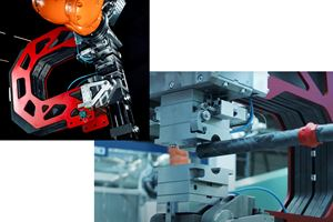 功能化复合材料的机器人注射成型图像